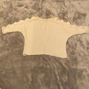 White over sized blouse size M